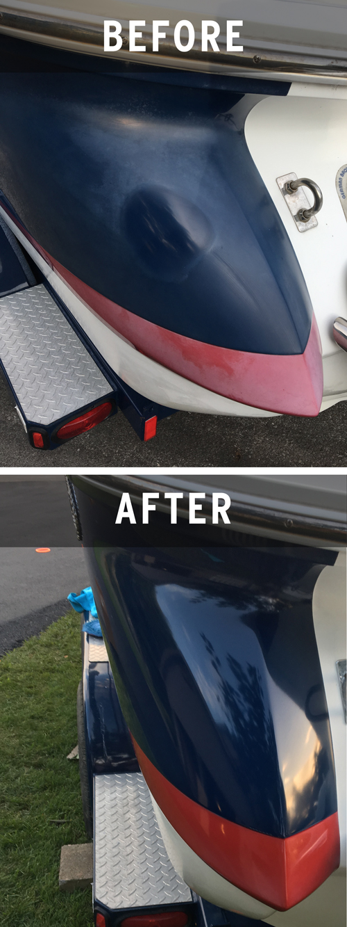 before and after car wax photo